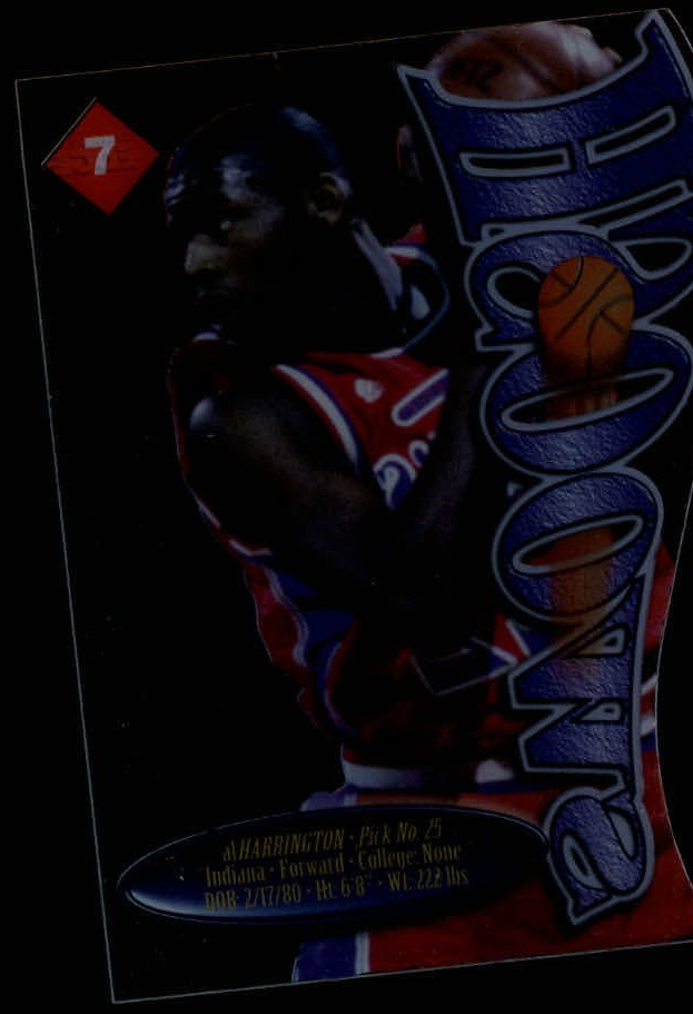 1998 Collector's Edge Impulse Swoosh #7R Al Harrington back image