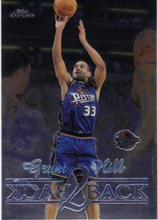 1998-99 Topps Chrome Back 2 Back #B7 Grant Hill