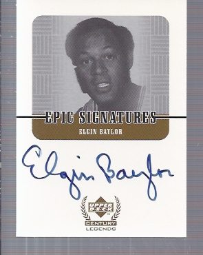 1999 Upper Deck Century Legends Epic Signatures #EB Elgin Baylor