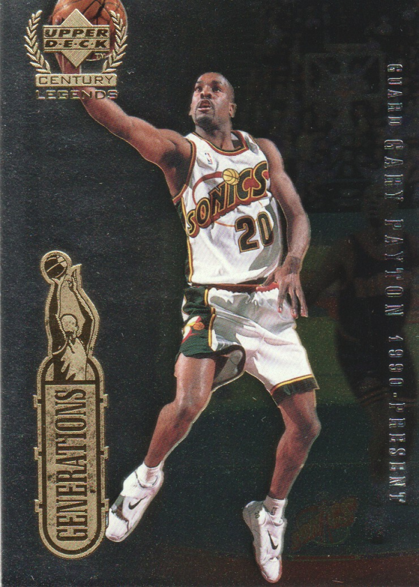 1999 Upper Deck Century Legends Generations #G8 Gary Payton/Isiah Thomas