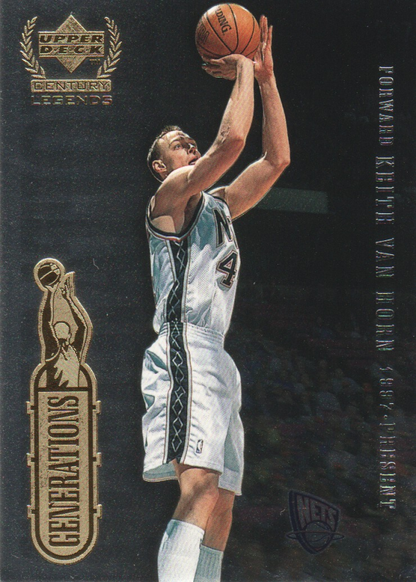 1999 Upper Deck Century Legends Generations #G11 Keith Van Horn/Larry Bird