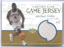 1999-00 Upper Deck Game Jerseys Century Club #GJ58 Michael Finley