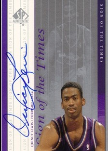 1999-00 SP Authentic Sign of the Times #QL Quincy Lewis