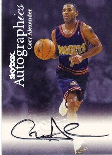 1999-00 SkyBox Premium Autographics #1 Cory Alexander