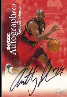 1999-00 SkyBox Premium Autographics #53 Anthony Johnson