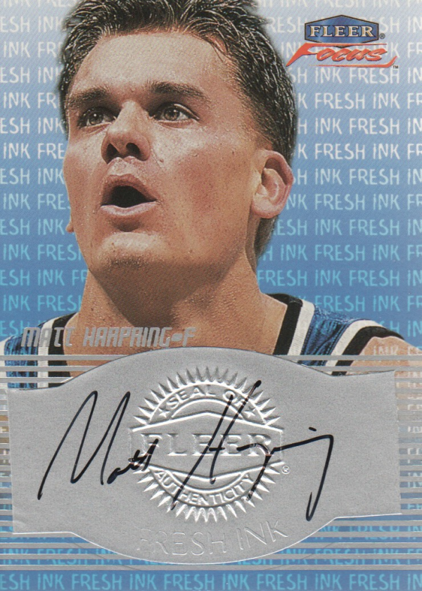 1999-00 Fleer Focus Fresh Ink #7 Matt Harpring