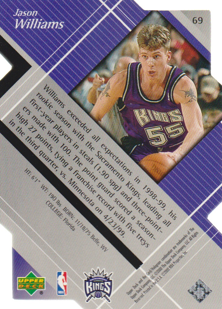 1999-00 Black Diamond Diamond Cut #69 Jason Williams back image