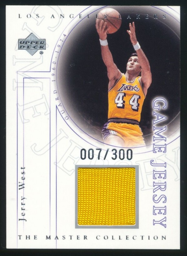 2000 Upper Deck Lakers Master Collection Game Jerseys #JWJ Jerry West