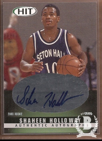 2000 SAGE HIT Autographs Emerald #36 Shaheen Holloway
