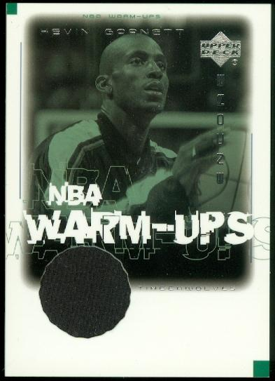 2000-01 Upper Deck Encore NBA Warm-Ups #KGW Kevin Garnett