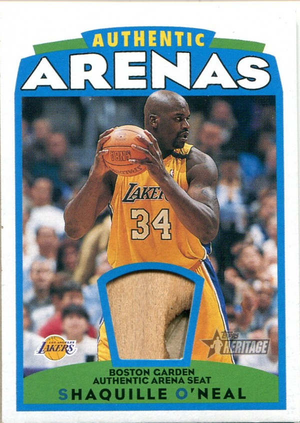 2000-01 Topps Heritage Authentic Arena #AAR1 Shaquille O'Neal