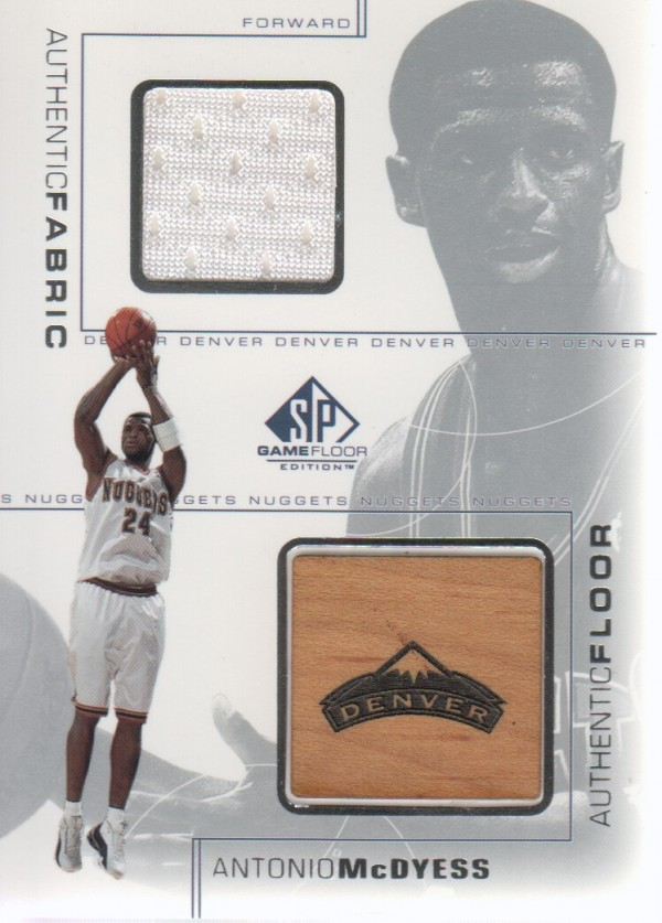 2000-01 SP Game Floor Authentic Fabric/Floor Combos #MDC Antonio McDyess