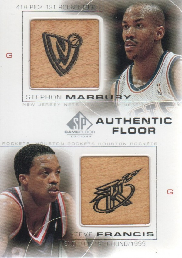 2000-01 SP Game Floor Authentic Floor Combos #C3 Stephon Marbury/Steve Francis