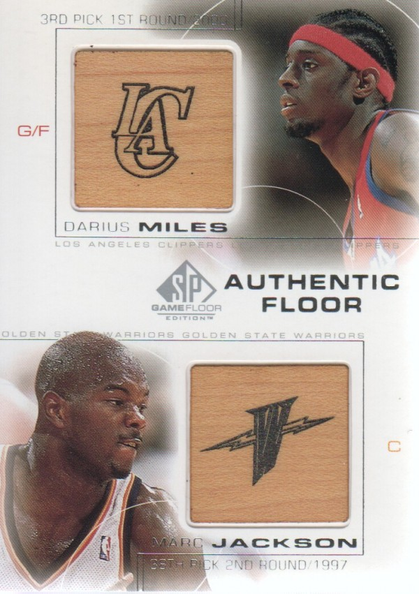 2000-01 SP Game Floor Authentic Floor Combos #C5 Darius Miles/Marc Jackson