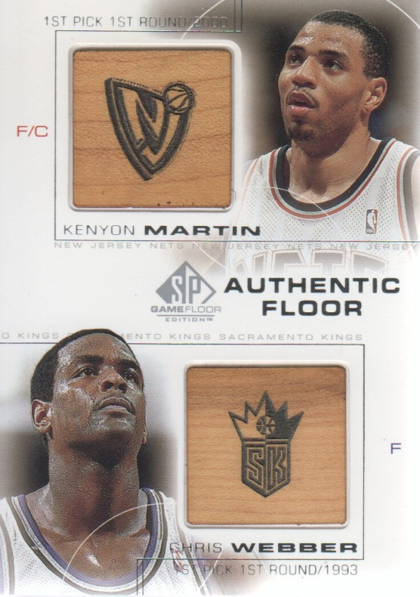 2000-01 SP Game Floor Authentic Floor Combos #C7 Kenyon Martin/Chris Webber