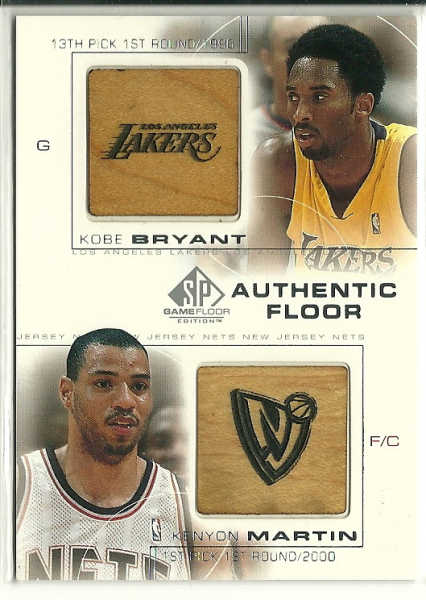 2000-01 SP Game Floor Authentic Floor Combos #C19 Kobe Bryant/Kenyon Martin