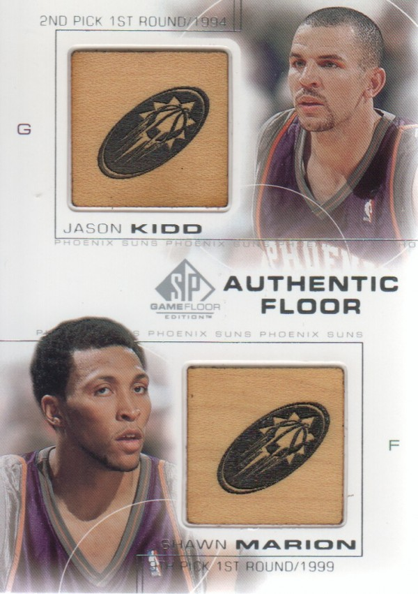 2000-01 SP Game Floor Authentic Floor Combos #C28 Jason Kidd/Shawn Marion