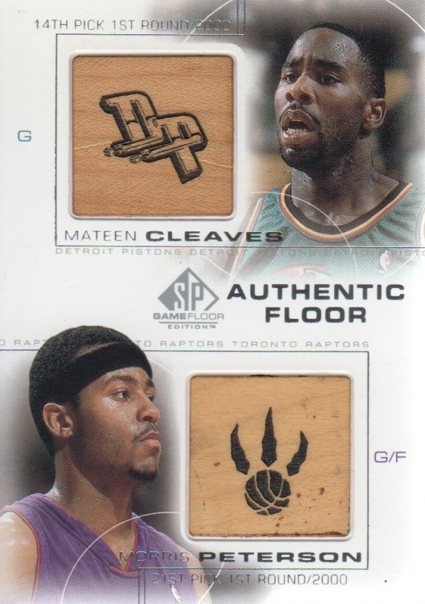 2000-01 SP Game Floor Authentic Floor Combos #C29 Mateen Cleaves/Morris Peterson