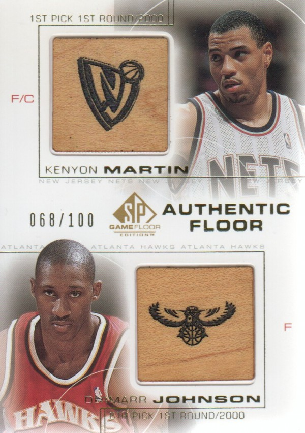 2000-01 SP Game Floor Authentic Floor Combos Gold #C8 Kenyon Martin/DerMarr Johnson