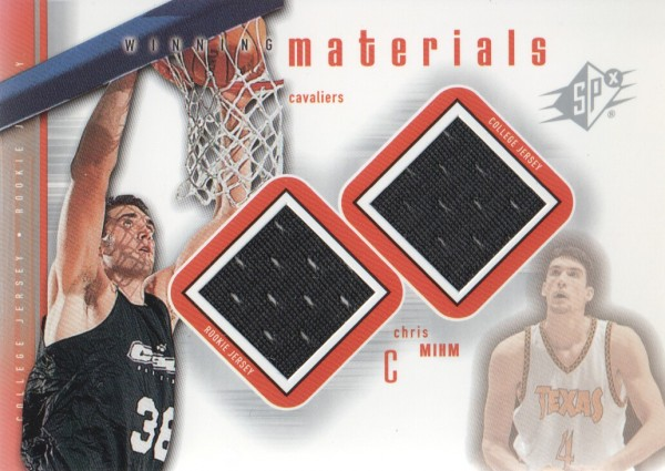 2000-01 SPx Winning Materials #CM1 Chris Mihm