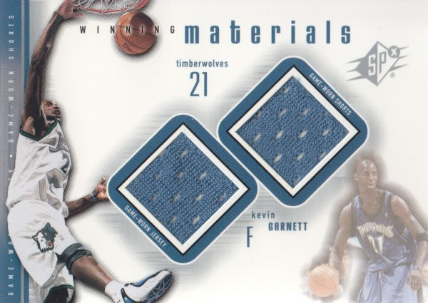 2000-01 SPx Winning Materials #KG3 Kevin Garnett JSY/Shorts