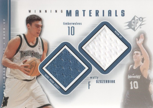 2000-01 SPx Winning Materials #WS1 Wally Szczerbiak JSY/WM