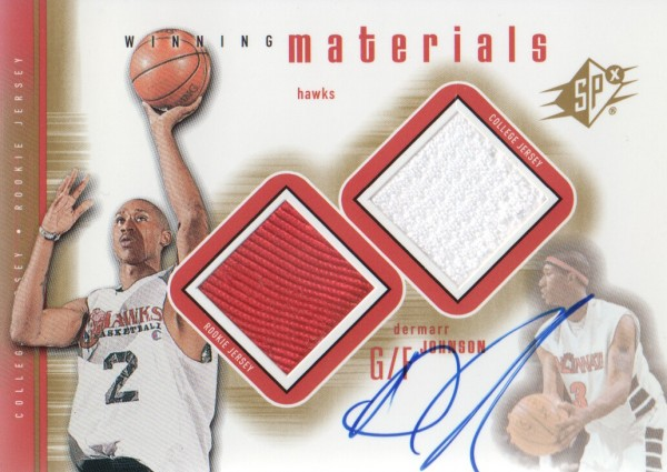 2000-01 SPx Winning Materials #DMA1 DerMarr Johnson AU