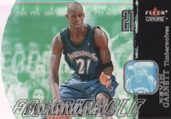 2000-01 Fleer Genuine Formidable #F14 Kevin Garnett