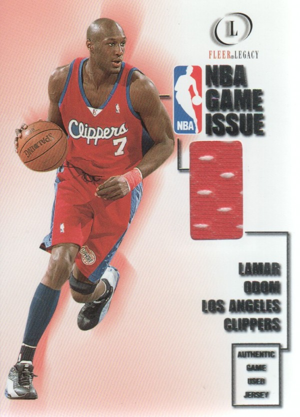 2000-01 Fleer Legacy NBA Game Issue #GI13 Lamar Odom