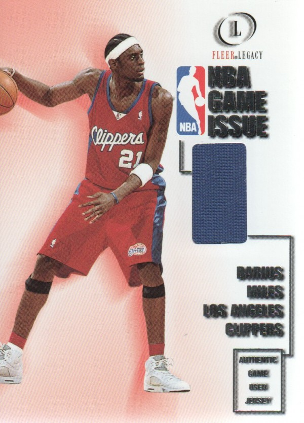 2000-01 Fleer Legacy NBA Game Issue #GI21 Darius Miles