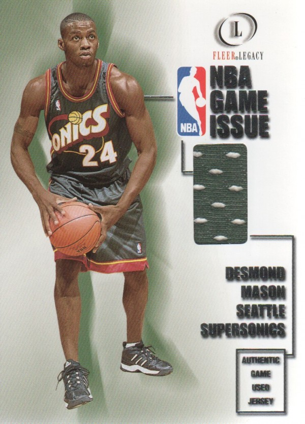 2000-01 Fleer Legacy NBA Game Issue #GI23 Desmond Mason