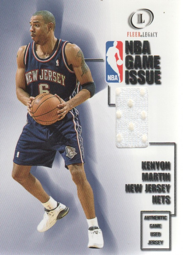 2000-01 Fleer Legacy NBA Game Issue #GI27 Kenyon Martin