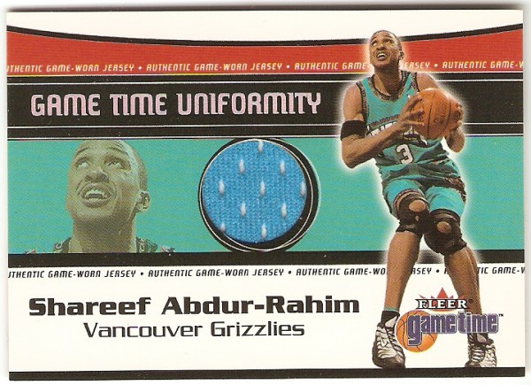 2000-01 Fleer Game Time Uniformity #1 Shareef Abdur-Rahim