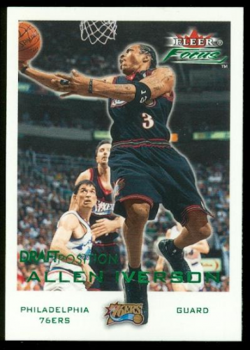 2000-01 Fleer Focus Draft Position #159 Allen Iverson/100