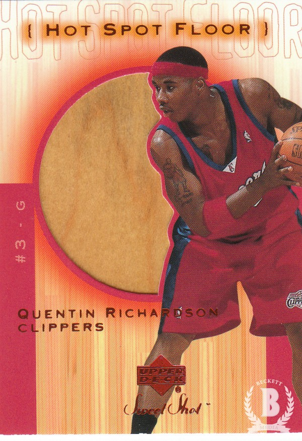 2001-02 Sweet Shot Hot Spot Floor #QRF Quentin Richardson