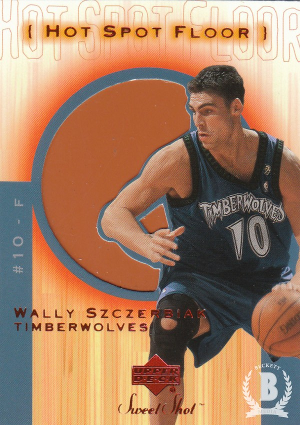 2001-02 Sweet Shot Hot Spot Floor #WSF Wally Szczerbiak