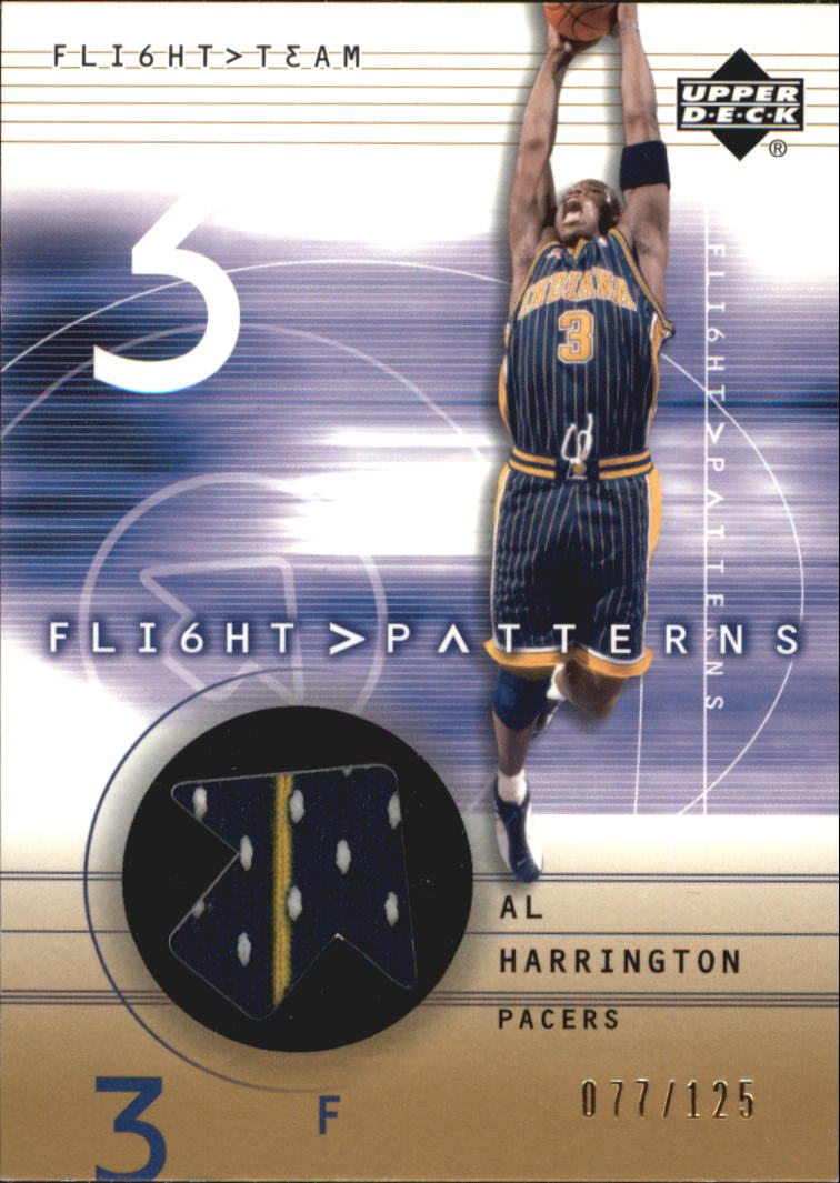 2001-02 Upper Deck Flight Team Flight Patterns Gold #AL Al Harrington