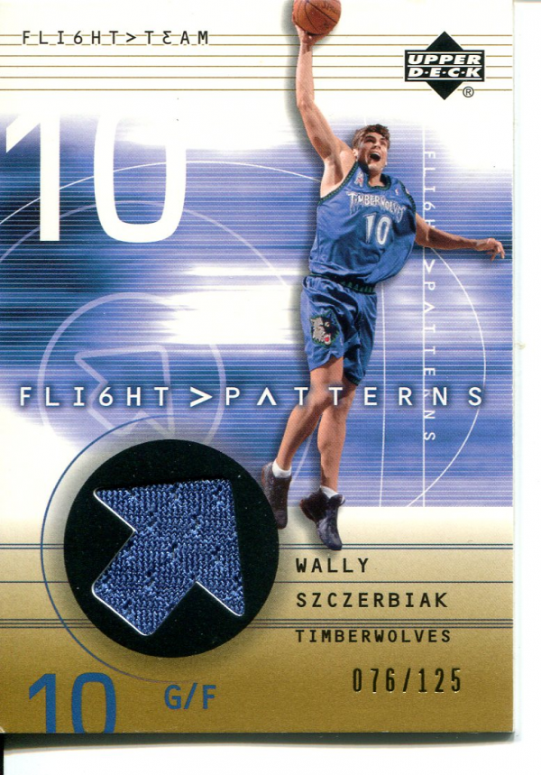 2001-02 Upper Deck Flight Team Flight Patterns Gold #WS Wally Szczerbiak