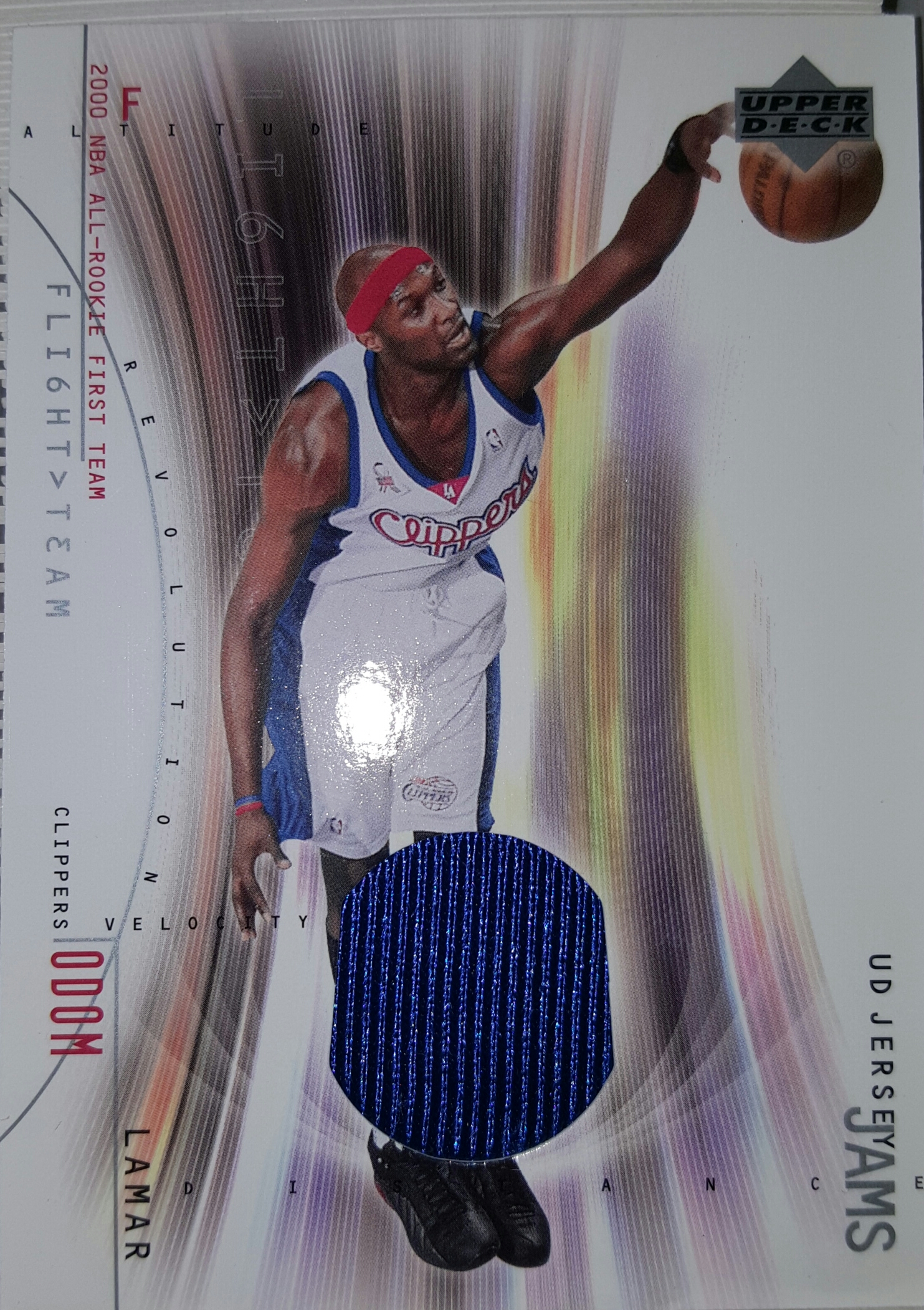 2001-02 Upper Deck Flight Team UD Jersey Jams #LOJ Lamar Odom