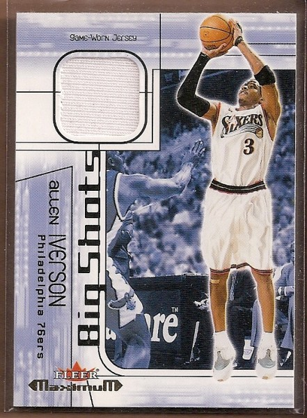 2001-02 Fleer Maximum Big Shots Jerseys #2 Allen Iverson