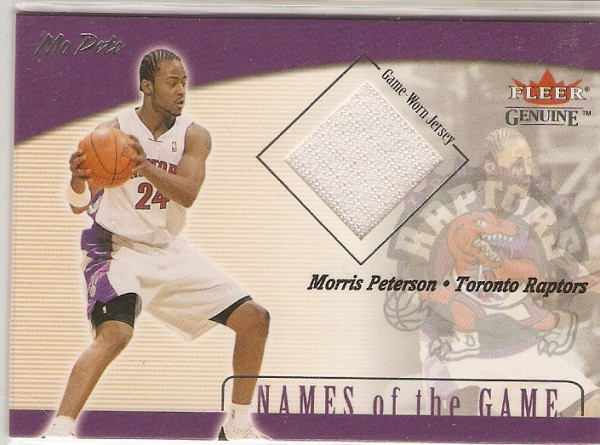 2001-02 Fleer Genuine Names of the Game #12 Morris Peterson