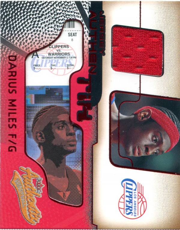 2001-02 Fleer Authentix Jersey Authentix Ripped #2 Darius Miles