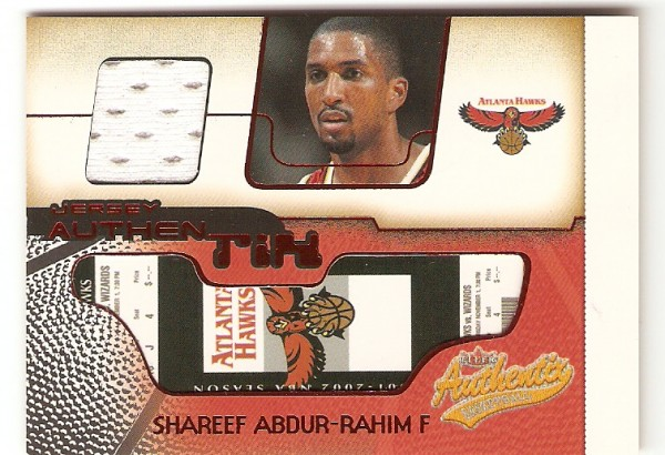 2001-02 Fleer Authentix Jersey Authentix Ripped #14 Shareef Abdur-Rahim