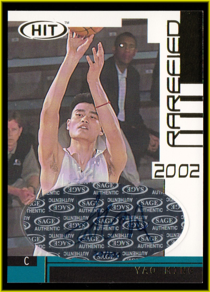 2002 SAGE HIT Rarefied Gold Autographs #G5 Yao Ming