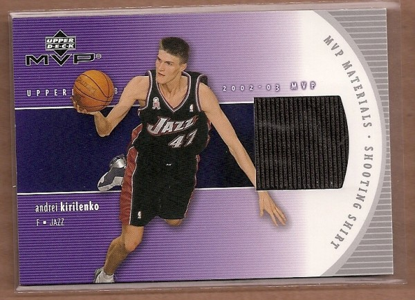 2002-03 Upper Deck MVP Materials Shooting Shirt #AKS Andrei Kirilenko