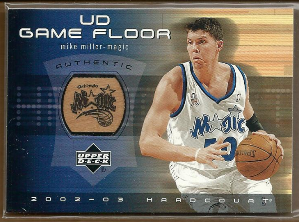 2002-03 Upper Deck Hardcourt UD Game Floor #MMF Mike Miller