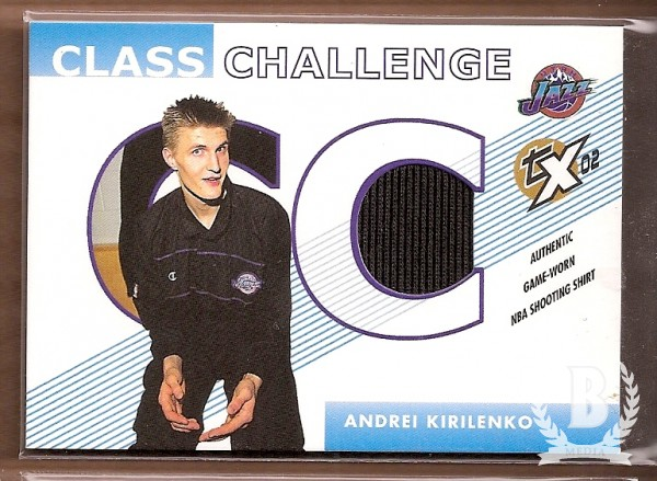 2002-03 Topps Xpectations Class Challenge Relics #CCAK Andrei Kirilenko D