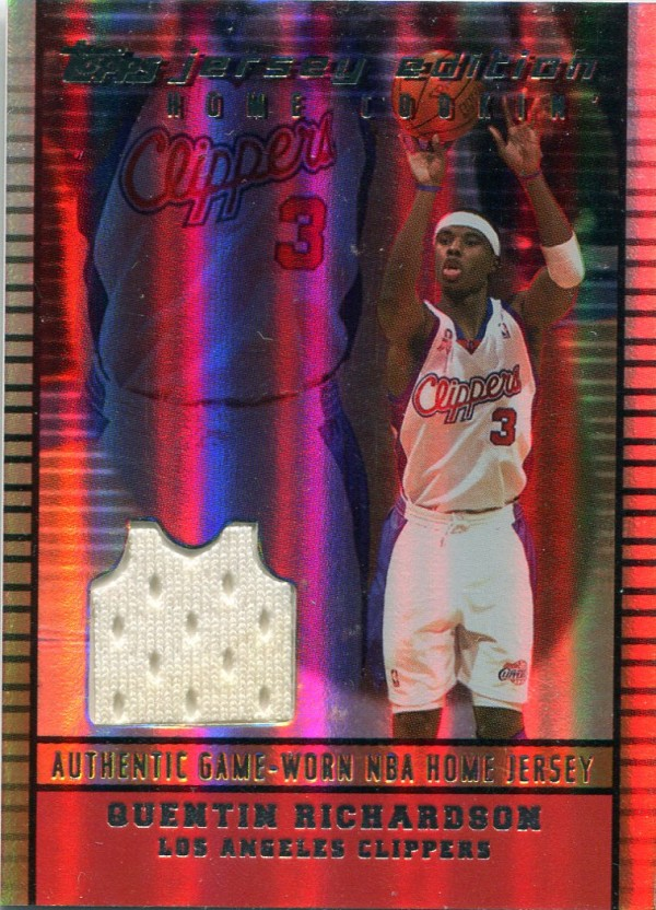 2002-03 Topps Jersey Edition Copper #JEQRI Quentin Richardson H