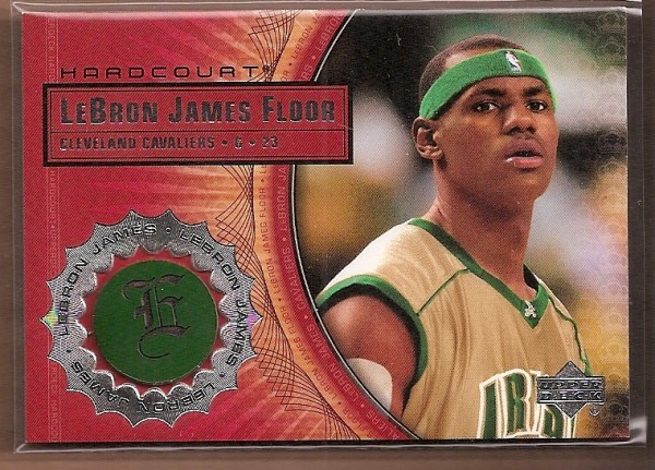 2003-04 Upper Deck Hardcourt LeBron James Floor #LB2 LeBron James/Gold Jersey Green Headband