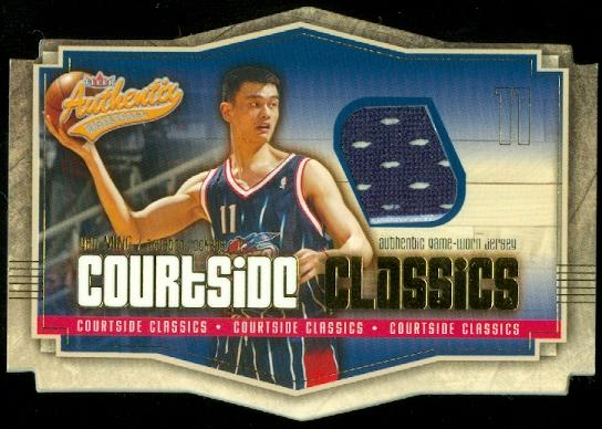 2003-04 Fleer Authentix Courtside Classics Game-Used #4 Yao Ming